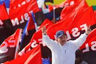 Nicaragua's President Daniel Ortega arrives for an event to mark the 39th anniversary of the Sandinista victory over President Somoza in Managua, Nicaragua July 19, 2018. REUTERS/Oswaldo Rivas