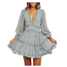 """If the word <em>dreamy</em> was a dress, this sundress would be it. The boho look is ideal for a bridal shower, baby shower, or literally anything else on your cal. That explains why reviewers rave about it. """"Definitely my new go-to dress,"""" one wrote. """"And the different colors allow for flexibility whether it's date night, a casual hangout, or even a nice summer day dress."""" $30, Amazon. <a href=""""https://www.amazon.com/Dokotoo-Neckline-Leopard-Fashion-Pleated/dp/B07TVNT4W2"""" rel=""""nofollow noopener"""" target=""""_blank"""" data-ylk=""""slk:Get it now!"""" class=""""link rapid-noclick-resp"""">Get it now!</a>"""