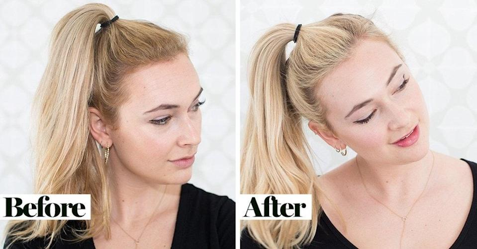 Before and after fixing my brassy highlights