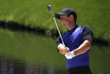 Rory McIlroy of Northern Ireland practices for the 2017 Masters at Augusta National Golf Club in Augusta