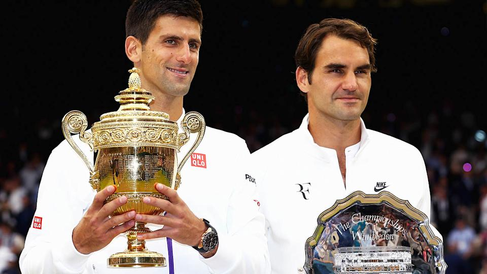 Novak Djokovic and Roger Federer are believed to be at odds over a number of issues.  (Photo by Clive Brunskill/Getty Images)