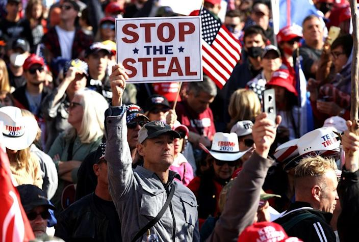 A sense that the 2020 election was stolen from Donald Trump, which there has been no evidence for, pervaded among his supporters who marched in Washington on Saturday. (Getty Images)
