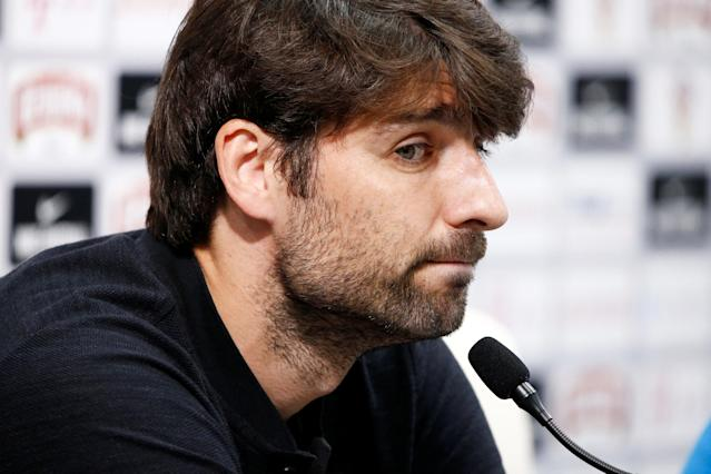 Soccer Football - World Cup - Croatia Press Conference - Croatia Training Camp, Roschino, Russia - June 23, 2018 Croatia's Vedran Corluka during the press conference REUTERS/Anton Vaganov