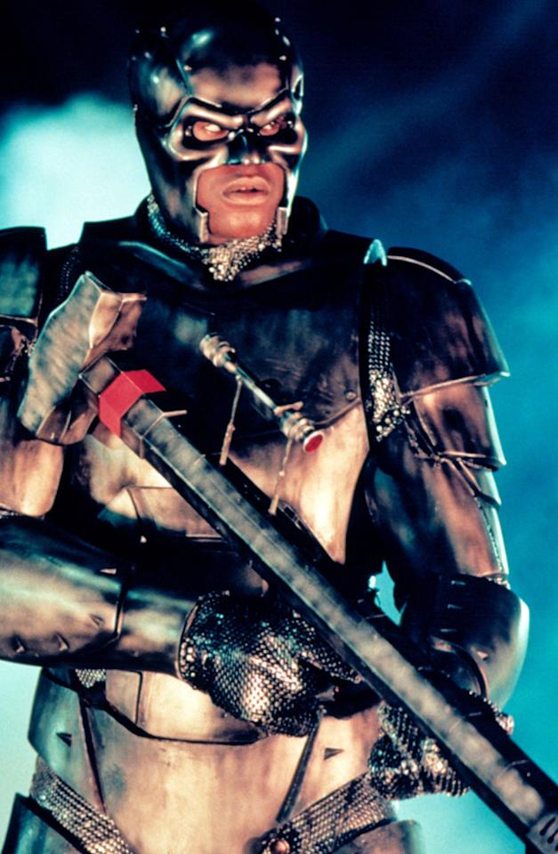 """STEEL<br><a href=""""http://movies.yahoo.com/movie/1800024856/info"""">""""Steel</a>""""<br>Grade: F <br>Not nearly as laughable as the film itself, Steel's suit of armor looks like the Tin Man from """"The Wizard of Oz"""" gone feral."""