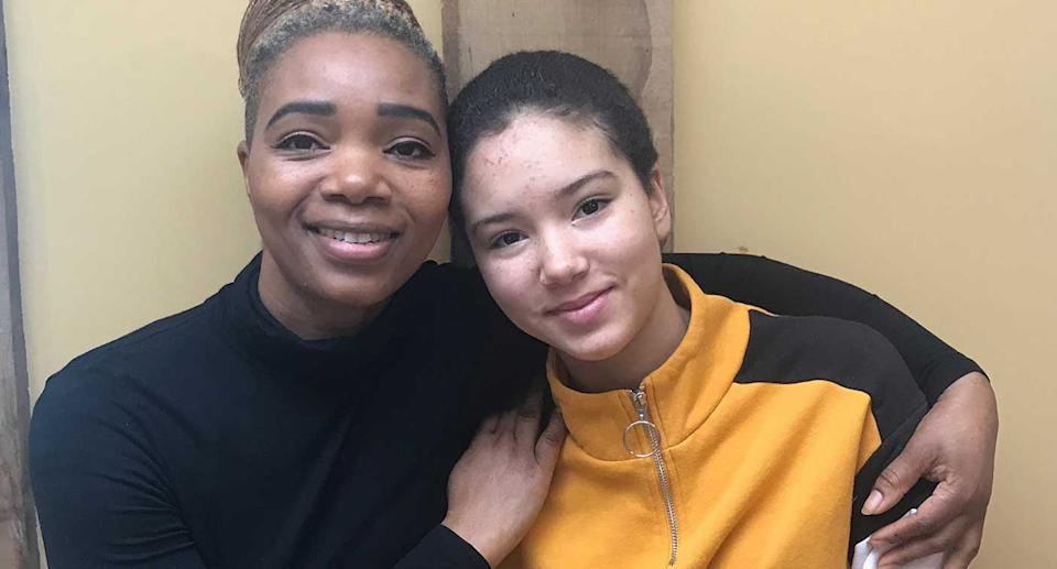 Carly with her mum, Anna Mudeka. (Pic: Supplied)