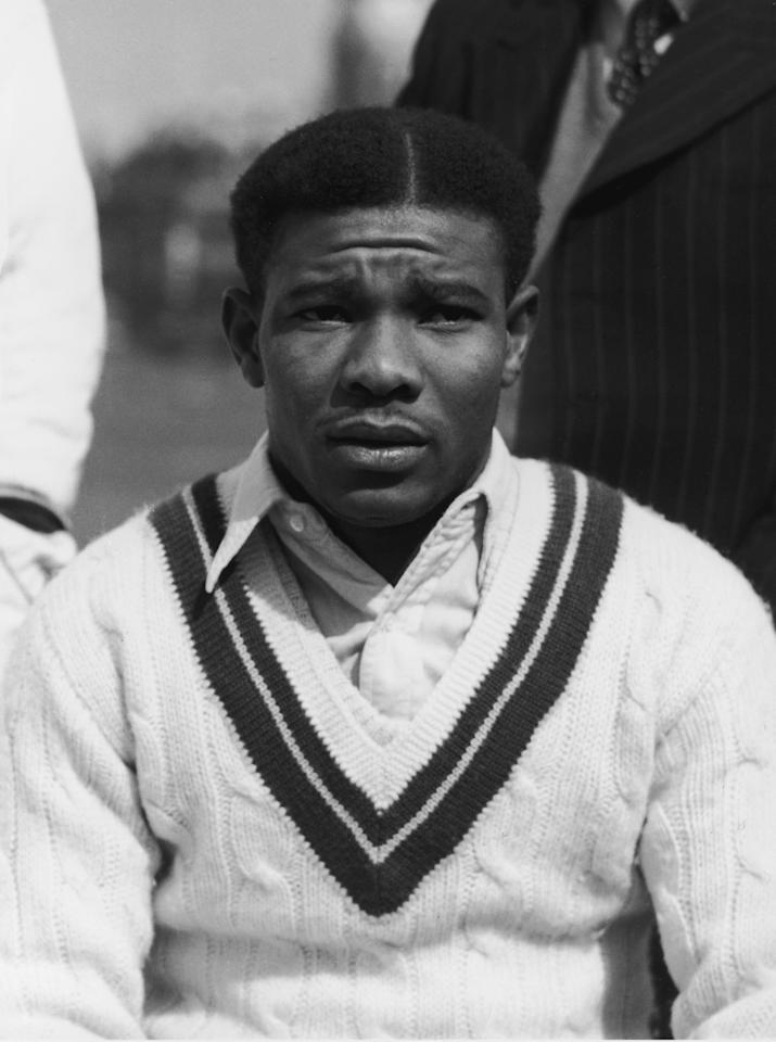 West Indies cricketer Everton Weekes, 28th April 1950. (Photo by Douglas Miller/Hulton Archive/Getty Images)