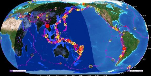 Whole Lotta Shakin' Goin' On: Busy Stretch for Large Earthquakes