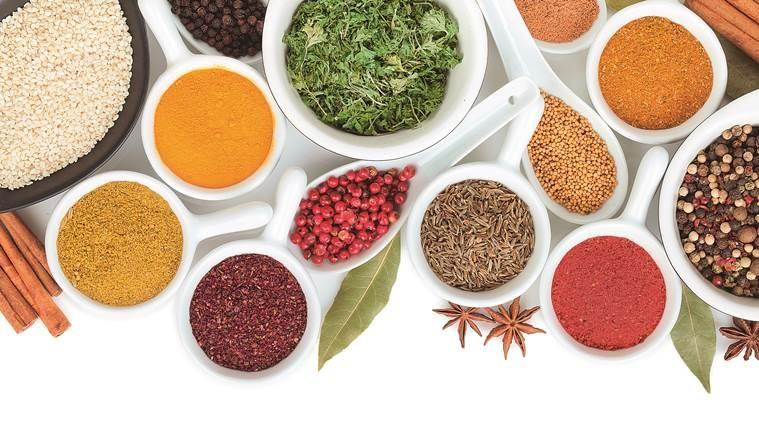 kitchen spices to relieve bloating, gas, indigestion, indianexpress.com, indianexpress, spices and herbs, coriander seeds, cumin seeds, fennel seeds, carom seeds, lovneet batra,