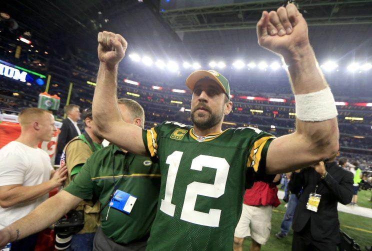 Aaron Rodgers is looking to make his second Super Bowl. (AP)
