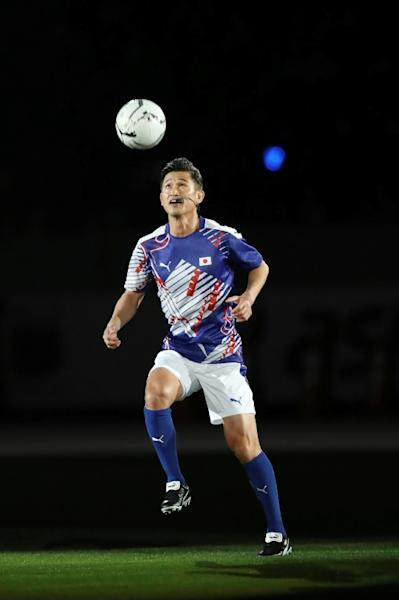 Japanese football player Kazuyoshi Miura made his pro debut in 1986 (AFP Photo/STR)