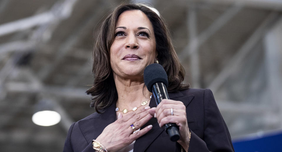 Kamala Harris has made history by become the first black and South Asian female US vice president. Source: AAP