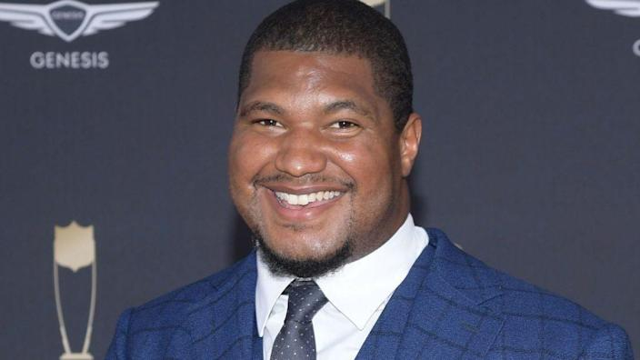 Calais Campbell attends the 9th Annual NFL Honors at Adrienne Arsht Center on February 01, 2020 in Miami, Florida. (Photo by Jason Kempin/Getty Images)