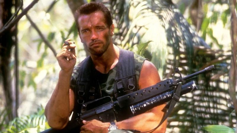 Arnie as Dutch in Predator (Credit: 20th Century Fox)