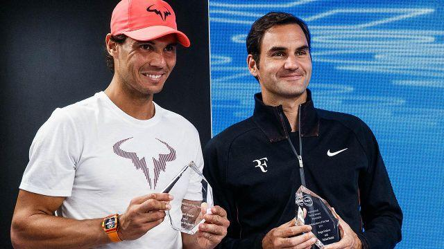 Nadal and Federer. Image: Getty