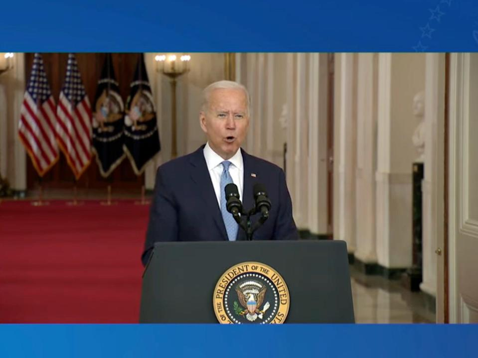 Biden speaks about the end of the war in Afghanistan (YouTube/The White House)
