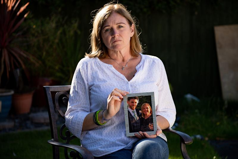 Deborah Adlam, the mother of Pc Andrew Harper, at her home in Oxfordshire. Adlam and Pc Harper's widow, Lissie Harper, have launched campaigns for tougher punishments for those who kill police officers.