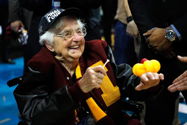 Sister Jean and Loyola have been a redemptive storyline for this tumultuous college basketball season. (AP)