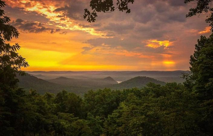 Catch the sunrise in Morrow Mountain at Albamar.