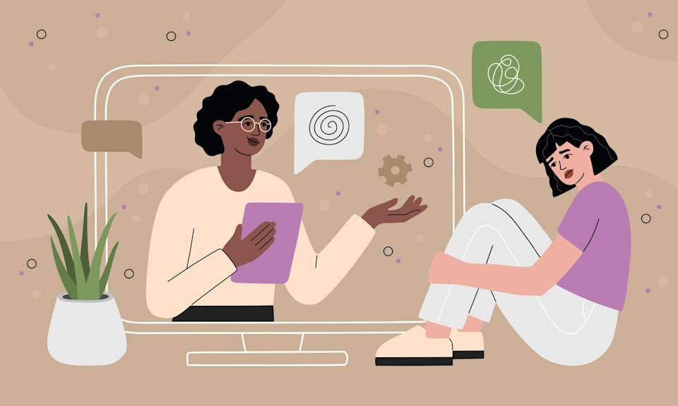Illustration of doctor video call