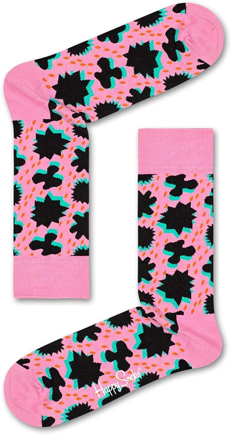"""<h3>Happy Socks Comic Relief Cotton Socks</h3><br>Or, go for one really good pair of unisex statement-makers (there are other less pink patterns!). <br><br><strong>Happy Socks</strong> Colorful Premium Cotton Print Socks, Comic Relief, $, available at <a href=""""https://amzn.to/2JhwTsU"""" rel=""""nofollow noopener"""" target=""""_blank"""" data-ylk=""""slk:Amazon"""" class=""""link rapid-noclick-resp"""">Amazon</a>"""