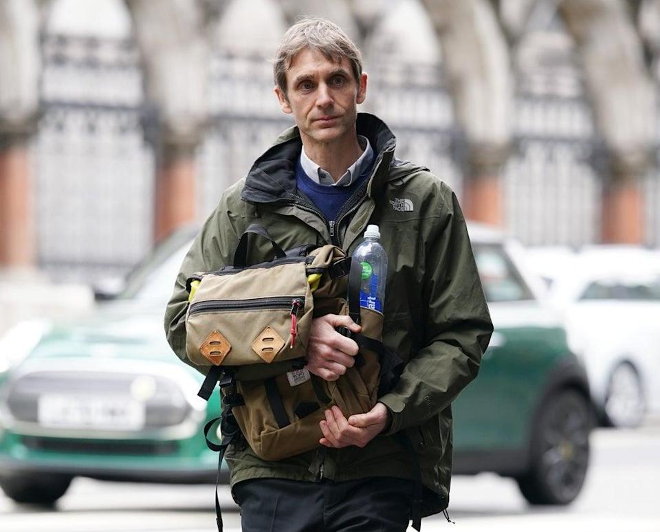 Jeremy Stansfield leaving the Royal Courts of Justice, London (Yui Mok/PA) (PA Wire)