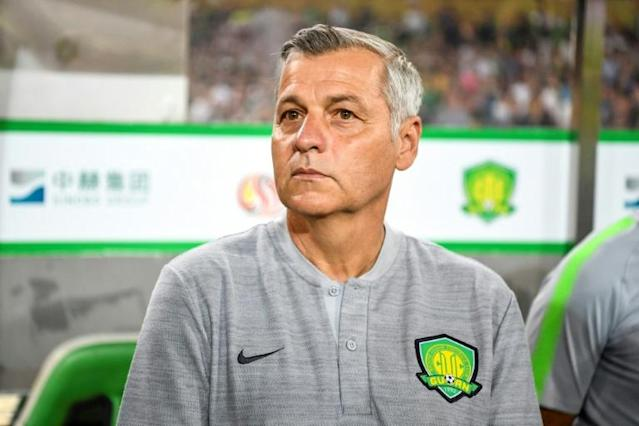 French coach Bruno Genesio has signed a one-year extension with Beijing Guoan (AFP Photo/STR)