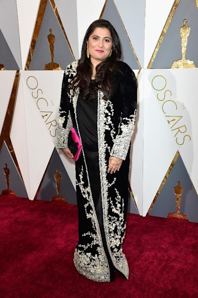 Filmmaker Sharmeen Obaid-Chinoy attends the 88th Annual Academy Awards, at Hollywood & Highland Center, on February 28, 2016 (AFP Photo/Frazer Harrison)