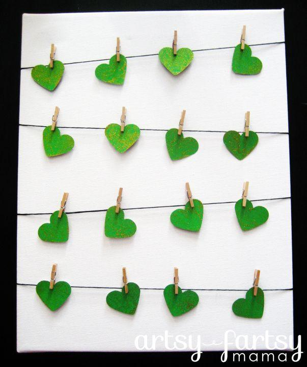 """<p>This easy DIY clothesline craft requires only a few supplies and can be put together quickly.</p><p><strong>Get the tutorial at <a href=""""https://www.artsyfartsymama.com/2012/03/st-patricks-day-clothesline-art.html"""" rel=""""nofollow noopener"""" target=""""_blank"""" data-ylk=""""slk:Artsy Fartsy Mama"""" class=""""link rapid-noclick-resp"""">Artsy Fartsy Mama</a>.</strong></p><p><strong><a class=""""link rapid-noclick-resp"""" href=""""https://www.amazon.com/Paper-Punchers-Hole-Punch-Inch/dp/B081N5BQNN/?tag=syn-yahoo-20&ascsubtag=%5Bartid%7C10050.g.4036%5Bsrc%7Cyahoo-us"""" rel=""""nofollow noopener"""" target=""""_blank"""" data-ylk=""""slk:SHOP PAPER PUNCHERS"""">SHOP PAPER PUNCHERS</a><br></strong></p>"""