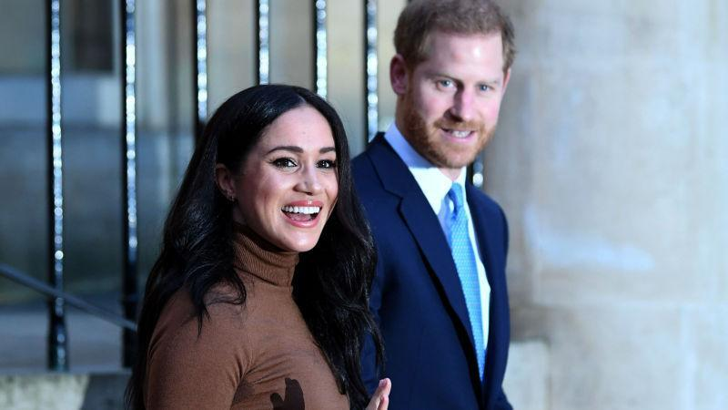 Prince Harry, Duke of Sussex and Meghan, Duchess of Sussex after their visit to Canada House on January 7, 2020, in London, England.