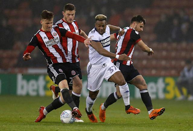 "Soccer Football - Championship - Sheffield United vs Middlesbrough - Bramall Lane, Sheffield, Britain - April 10, 2018 Middlesbrough's Adama Traore in action Action Images/Ed Sykes EDITORIAL USE ONLY. No use with unauthorized audio, video, data, fixture lists, club/league logos or ""live"" services. Online in-match use limited to 75 images, no video emulation. No use in betting, games or single club/league/player publications. Please contact your account representative for further details."