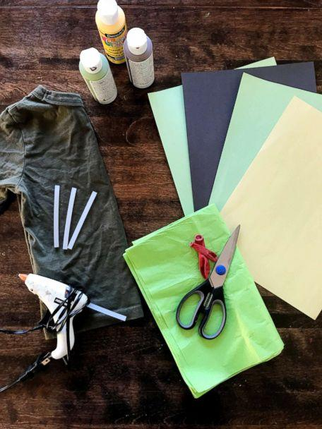 PHOTO: Materials are shown for Danielle Bevens' salad costume. (Danielle Bevens)