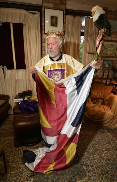 Paul Delprat's homemade kingdom is filled with monarchical and historical paraphernalia