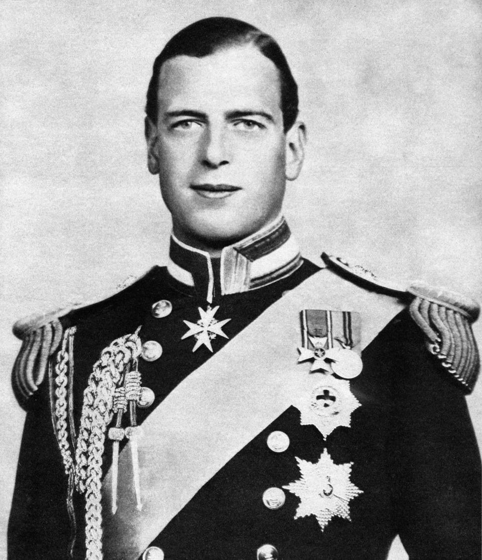 Prince George, Duke of Kent, c1936. The Duke of Kent (1902-1942) was a member of the British Royal Family, the fourth son of King George V. Illustration from George V and Edward VIII, A Royal Souvenir, by FGH Salusbury, a souvenir book published as Edward VIII was crowned following the death of his father, George V, (Daily Express Publication, London, 1936). (Photo by The Print Collector/Print Collector/Getty Images)