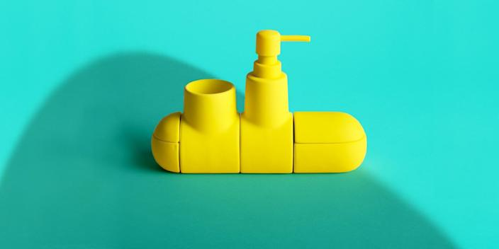 """<div class=""""caption""""> We're calling it: This is the era of the fun bathroom. First step, grab one of these submarine-shaped bathroom organizers in a bright primary color and watch your bathroom transform into a happy place. <a href=""""https://fave.co/2pnPAB1"""" rel=""""nofollow noopener"""" target=""""_blank"""" data-ylk=""""slk:SHOP NOW"""" class=""""link rapid-noclick-resp"""">SHOP NOW</a>: Submarino porcelain bathroom organizer by Seletti, $80, ylighting.com </div> <cite class=""""credit"""">Photo courtesy of Burkelman</cite>"""