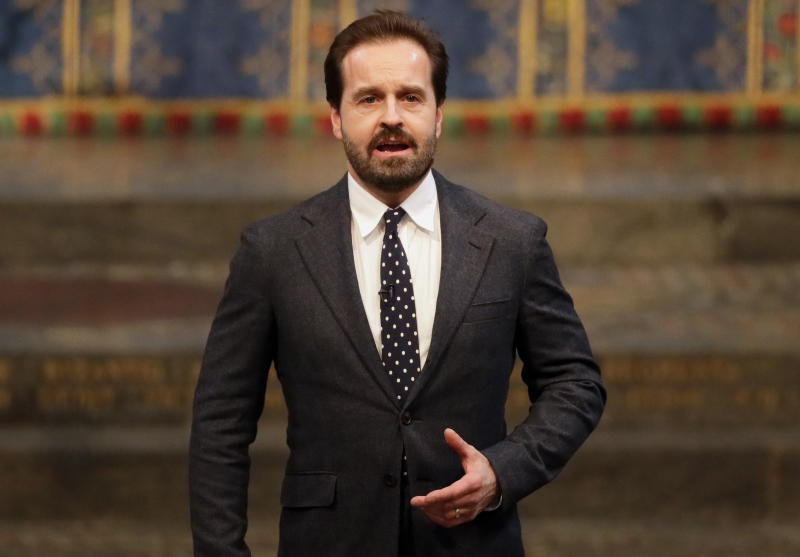 English tenor and actor Alfie Boe performs during the Commonwealth Day service at Westminster Abbey in London on March 11, 2019. - Britain's Queen Elizabeth II has been the Head of the Commonwealth throughout her reign. Organised by the Royal Commonwealth Society, the Service is the largest annual inter-faith gathering in the United Kingdom. (Photo by Kirsty Wigglesworth / POOL / AFP) (Photo credit should read KIRSTY WIGGLESWORTH/AFP via Getty Images)