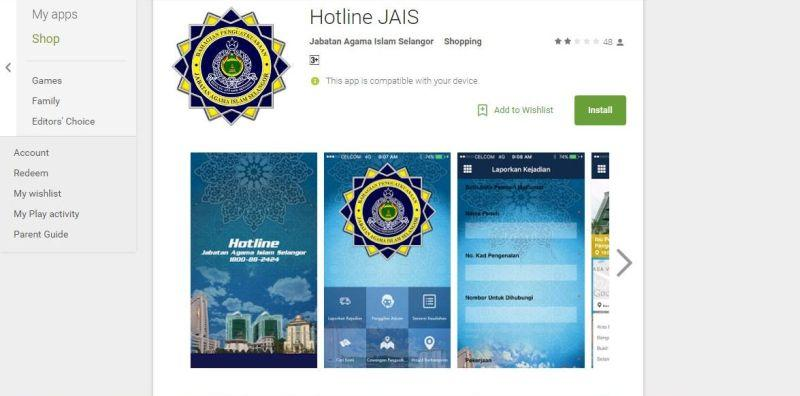 Five-star reviews flood 'Hotline Jais' app after claim it will be removed