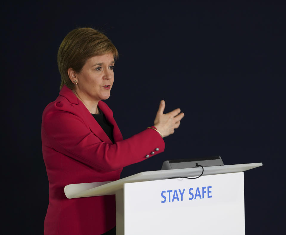 First Minister Nicola Sturgeon welcomed the announcement that the Pfizer vaccine is safe for over 12s
