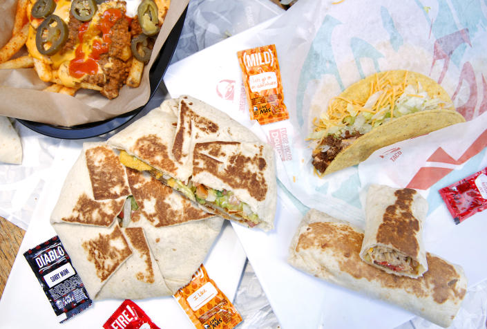 Taco Bell International Menu Tasting at Taco Bell Headquarters on December 9, 2019 in Irvine, California. (Photo by Rachel Murray/Getty Images for Taco Bell)