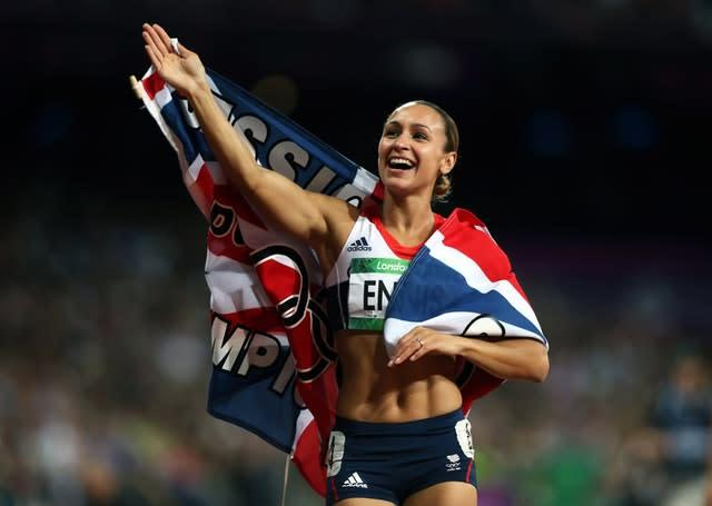 Jessica Ennis' gold in the heptathlon was a third in 44 minutes for Great Britain during the London 2012 Olympics (David Davies/PA)
