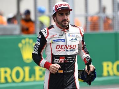 Fernando Alonso wins second straight Le Mans 24 Hour race title with Toyota after fortuitous puncture takes out race leader