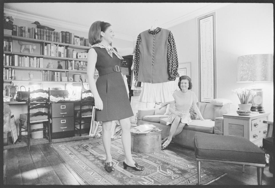 Betty Ford in Frankie Welch Boutique - Credit: Wally McNamee/Getty Images