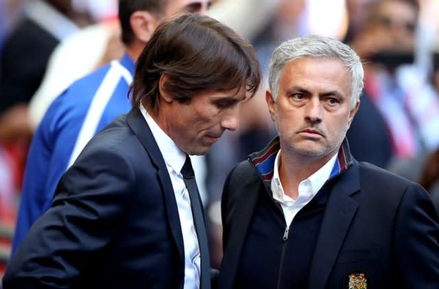 Lukaku is relishing playing under Conte (left) but believes Mourinho (right) could have achieved more at United with the right players (Nick Potts/PA)