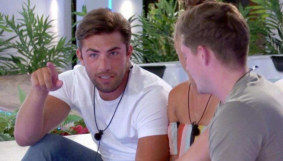 Jack Fincham and Dani give Alex George advice (Rex Features)