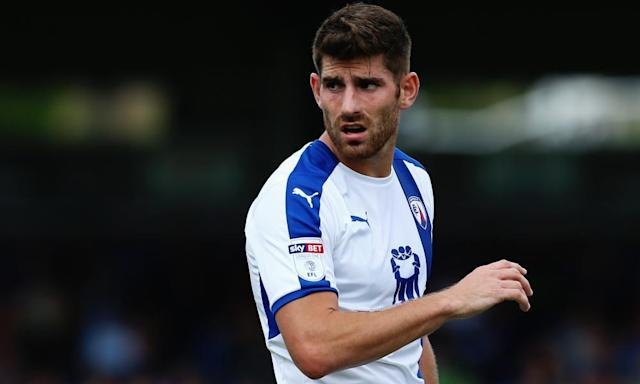 "<span class=""element-image__caption"">Ched Evans has been playing for Chesterfield this season.</span> <span class=""element-image__credit"">Photograph: Ker Robertson/Getty Images</span>"