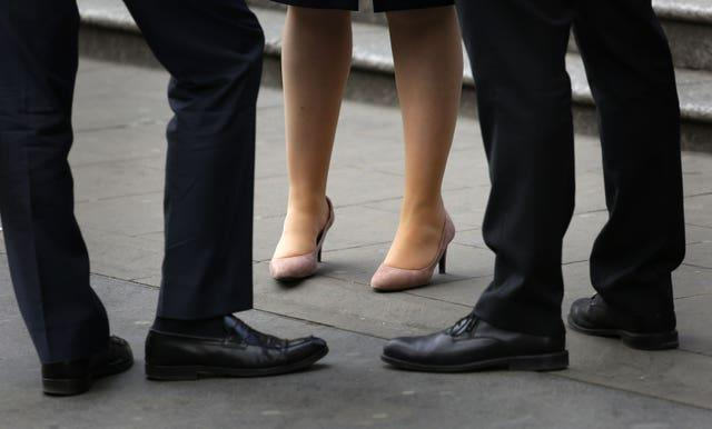 Office workers in the City of London (Philip Toscano/PA)