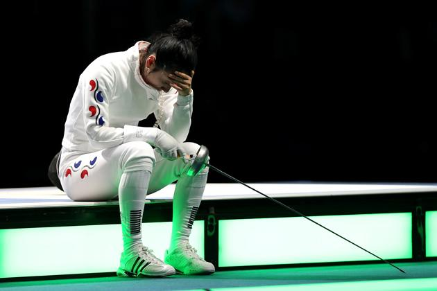 Nor could Shin A-lam have known that a tearful, lonely hour sobbing over the loss of her bout 