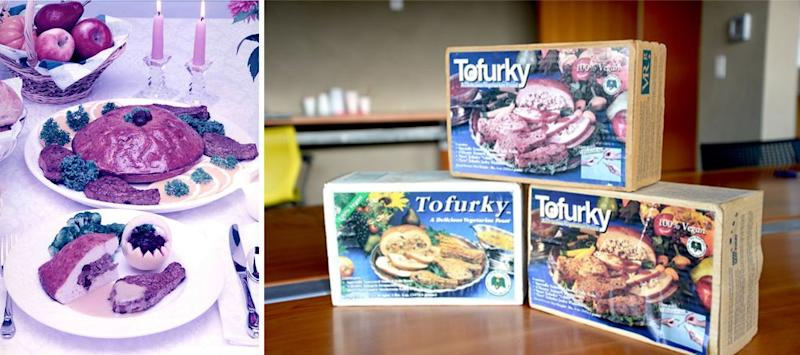 Original Tofurky feast and early roast packaging.