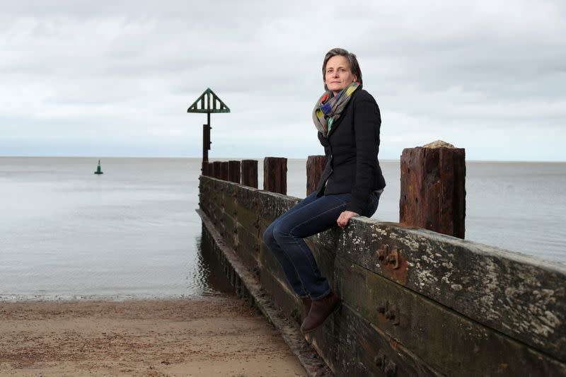 Climate Scientist Corinne Le Quere poses for a picture along the coastline at Wells-Next-The-Sea in Norfolk