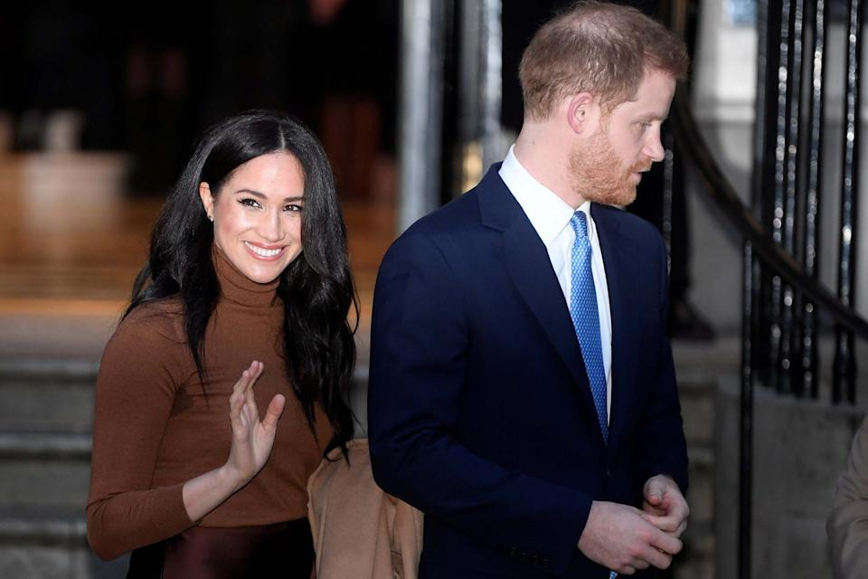 Prince Harry and his wife Meghan, Duchess of Sussex, leave Canada House in London, Britain January 7, 2020 (REUTERS)