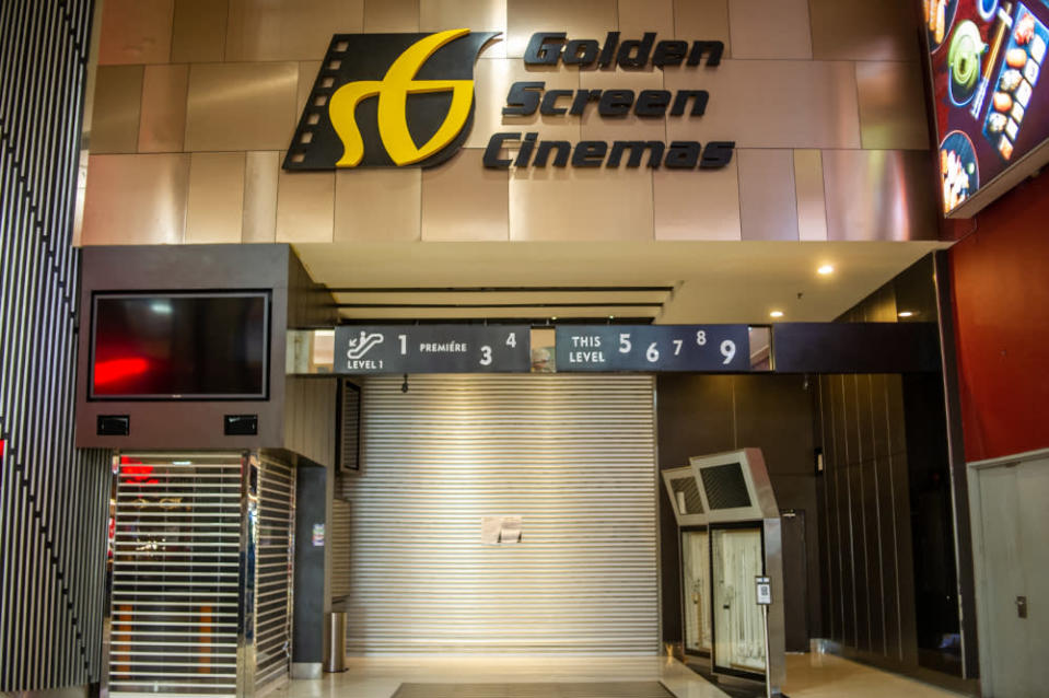 A permanently shuttered GSC Berjaya Times Square following forced extended closure brought about by government measures during the MCO, February 22, 2021. — Picture by Shafwan Zaidon